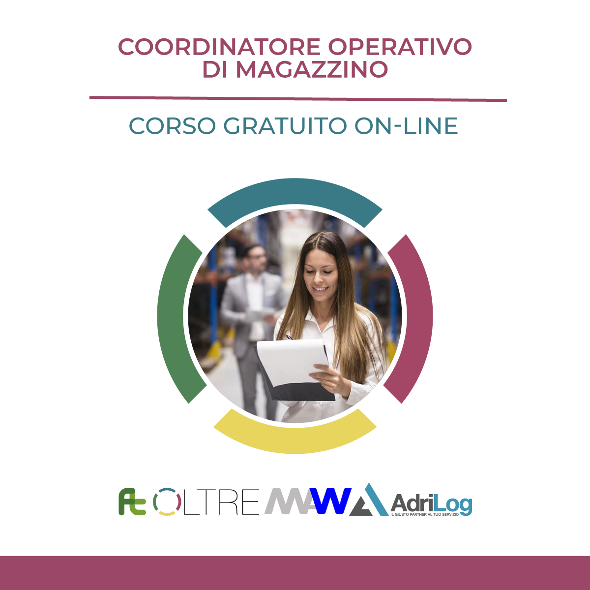 coordinatore operativo di magazzino;corso logistica; formazione logistica; logistica; formazione;
