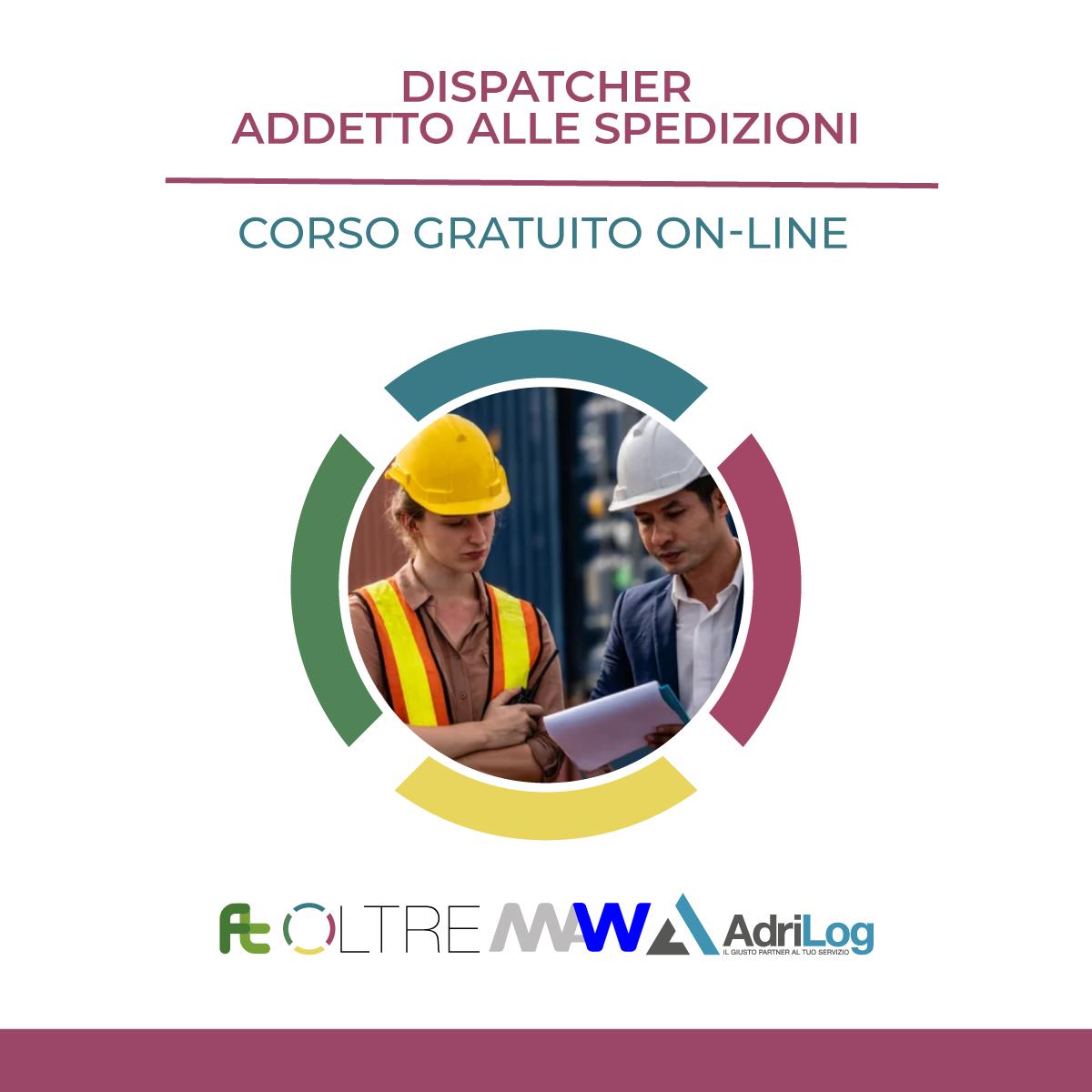 dispatcher addetto alle spedizioni; corso logistica; formazione logistica; logistica; formazione;